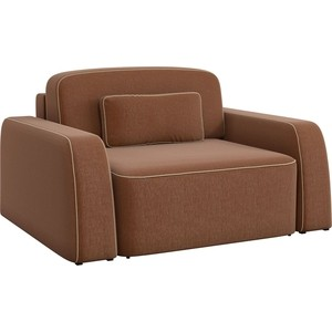 Кресло АртМебель Гермес рогожка коричневый.