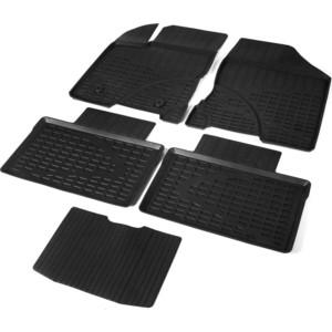 Коврики салона литьевые Rival для Lada Vesta седан, седан Cross, универсал, универсал Cross (2015-н.в.), резина, 66002002