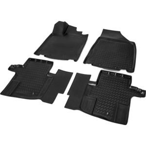 Коврики салона Rival для Nissan Pathfinder R52 5-дв. (2013-2017), полиуретан, без крепежа, 14104001