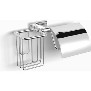 Держатель туалетной бумаги и освежителя Langberger с крышкой, хром (10941P)