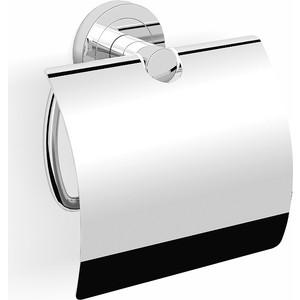 Держатель туалетной бумаги Langberger Burano с крышкой, хром (11041A) стакан стекло к стене круглый langberger burano 11011a хром