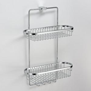 Полка двойная 35 см (хром) Schein Swing (32005) хром диспенсер керамика schein swing 322d хром