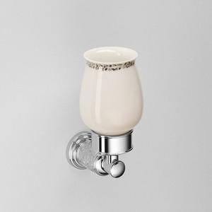 Стакан для ванны Schein Carving керамика, хром (7065011)
