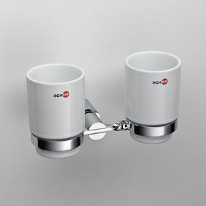 Стакан для ванны Schein двойной, хром (054C) стакан для ванны schein rembrandt керамика хром 063cs r