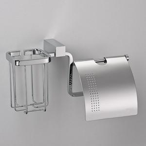 Держатель туалетной бумаги и освежителя Schein Rembrandt с крышкой, хром (066SE2-R)