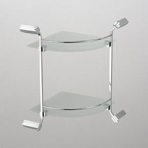 Полка стеклянная Schein угловая, хром (1212B)