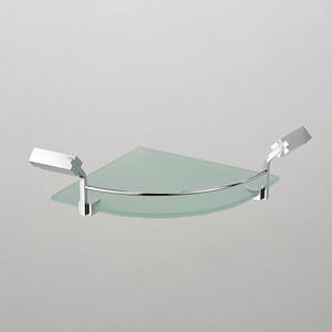 Полка стеклянная Schein угловая, хром (1212B1)