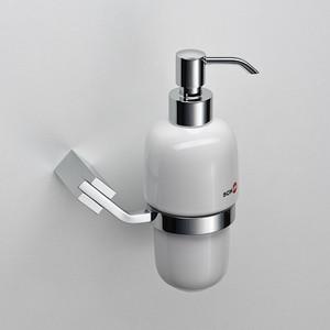 цена Дозатор для жидкого мыла Schein Watteau керамика, хром (122D-R) онлайн в 2017 году