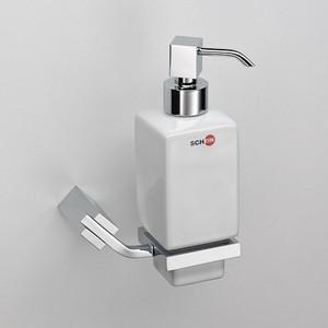 цена Дозатор для жидкого мыла Schein Watteau керамика, хром (122DS-R) онлайн в 2017 году