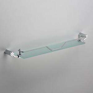 Полка стеклянная Schein хром (129E)