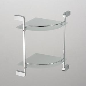 Полка стеклянная Schein угловая, хром (2212B)