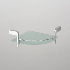 Полка стеклянная Schein угловая, хром (2212B1)