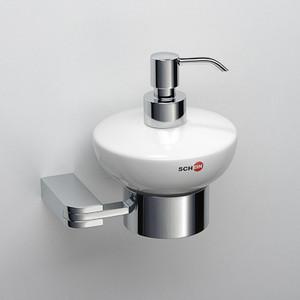 цена Дозатор для жидкого мыла Schein Allom керамика, хром (222DB-R) онлайн в 2017 году