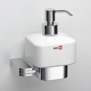 цена Дозатор для жидкого мыла Schein Allom керамика, хром (222DS-R) онлайн в 2017 году