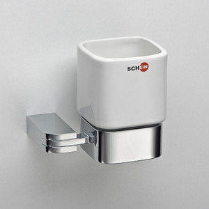 Стакан для ванны Schein Allom керамика, хром (223CS)