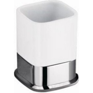 цена Стакан для ванны Schein Allom керамика, хром (223CS-T) онлайн в 2017 году