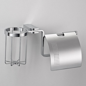 Держатель туалетной бумаги и освежителя Schein Allom с крышкой, хром (226E2-R)