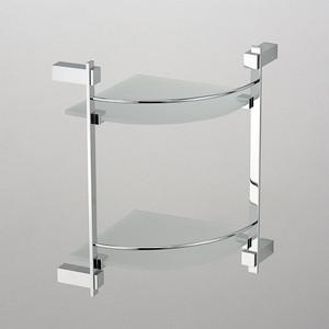 Полка стеклянная Schein угловая, хром (2612B)