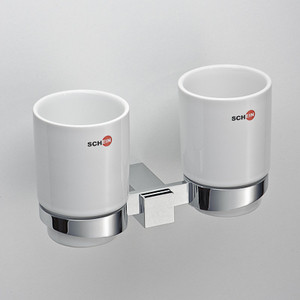 цена Стакан для ванны Schein Durer двойной, керамика, хром (264C) онлайн в 2017 году