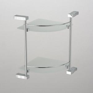Полка стеклянная Schein угловая, хром (3212B)
