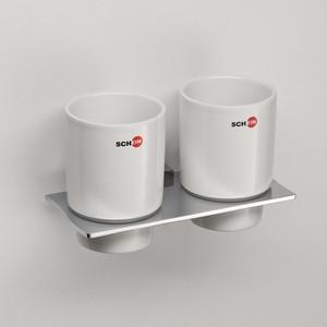 Стакан для ванны Schein Swing двойной, керамика, хром (324C)