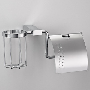 Держатель туалетной бумаги и освежителя Schein Swing с крышкой, хром (326E)