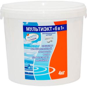 Комплексное средство для обеззараживания и очистки воды Маркопул Кемиклс М64 Мультиэкт 6-в-1 (4 кг) картриджи