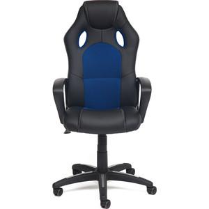 Кресло TetChair Racer кожзам/ткань черный/синий 36-6/10 стоимость