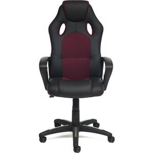 Кресло TetChair Racer кожзам/ткань черный/бордо 36-6/13 стоимость