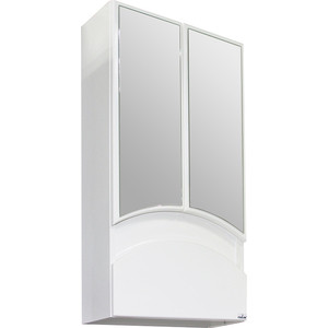 Зеркальный шкаф Mixline Радуга 46 белый (2130305224738) шкаф навесной mixline радуга 46 одуванчик белый 2131105280412