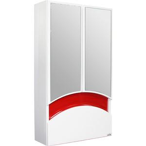 Зеркальный шкаф Mixline Радуга 46 красный (2130305224752) шкаф навесной mixline радуга 46 одуванчик белый 2131105280412