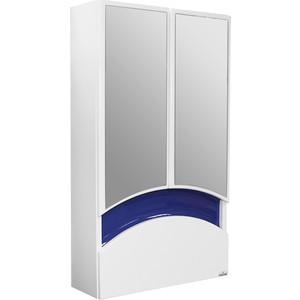 Зеркальный шкаф Mixline Радуга 46 синий (2070505229518) шкаф навесной mixline радуга 46 одуванчик белый 2131105280412