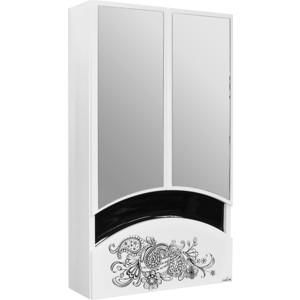Зеркальный шкаф Mixline Радуга 46 Цветы белый (2131105280429) шкаф навесной mixline радуга 46 одуванчик белый 2131105280412