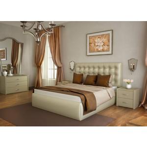 Кровать Lonax Аврора подъемный механизм с ящиком экокожа albert pearl (140x190 см) фото