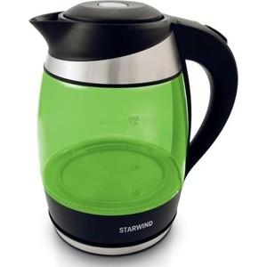 цена на Чайник электрический StarWind SKG2213 зеленый/черный
