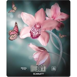 Весы кухонные Scarlett SC-KS57P31 рисунок/орхидея