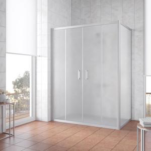 Душевой уголок Vegas Glass Z2P+ZPV 170*70 07 10 профиль матовый хром, стекло сатин цена