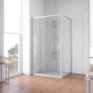 Душевой уголок Vegas Glass ZP+ZPV 160*70 07 01 профиль матовый хром, стекло прозрачное уголок билар ups 160