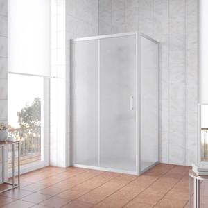 Душевой уголок Vegas Glass ZP+ZPV 110*70 07 10 профиль матовый хром, стекло сатин oodji 11700209 42250 4500n