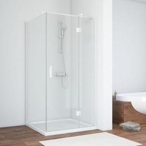 Душевой уголок Vegas Glass AFP-Fis 100*90 01 01 R правый, профиль белый, стекло прозрачное oodji 11700209 42250 4500n