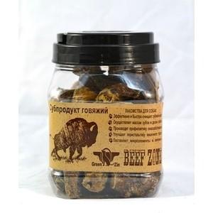 лучшая цена Лакомство GreenQZin Beef Zone сушеный бычий пенис субпродукт говяжий для собак 500г (BZPzC)