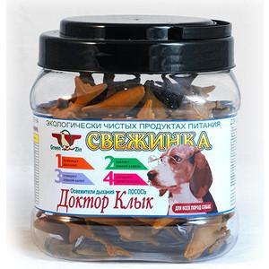 Лакомство GreenQZin Свежинка Доктор клык освежитель дыхания лосось для собак всех пород 630г (KISI630t)