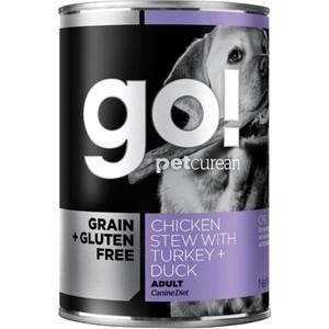 Консервы GO! NATURAL Holistic Dog Grain+Gluten Free Chicken Stew with Turkey+Duck беззерновые с курицей индейкой уткой для собак 400г (48513)