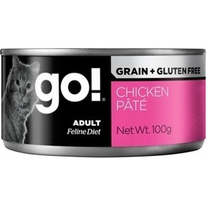 Консервы GO! NATURAL Holistic Cat Grain+Gluten Free Chicken Pate беззерновые с курицей для кошек 100г (28013) gluten free diet