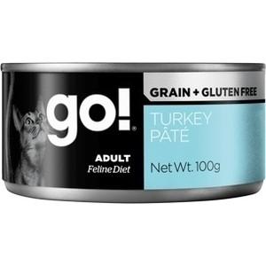 Консервы GO! NATURAL Holistic Cat Grain+Gluten Free Turkey Pate беззерновые с индейкой для кошек 100г (28014)