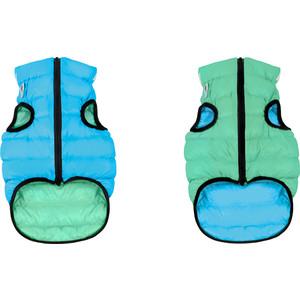 Курточка CoLLaR AiryVest Lumi двухсторонняя светящаяся салатово-голубая размер S 35 для собак (2237)