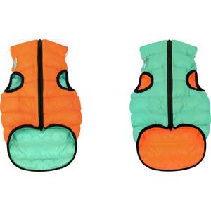 Курточка CoLLaR AiryVest Lumi двухсторонняя светящаяся оранжево-салатовая размер М 50 для собак (2288)