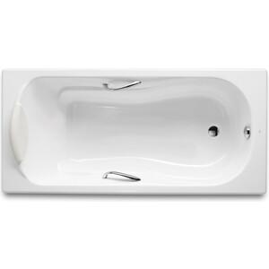 Чугунная ванна Roca Haiti 150x80 Antislip, с отверстиями для ручек (2332G000R)