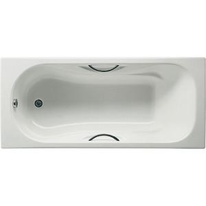 Чугунная ванна Roca Malibu 170x70 Antislip, с ручками и ножками (2333G0000, 526803010, 150412330) цена
