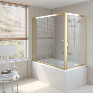 Шторка на ванну Vegas Glass ZV+ZVF 150*90 09 01 профиль золото стекло прозрачное шторка на ванну vegas glass zv zvf 160 90 09 01 профиль золото стекло прозрачное